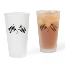 Checkered Flag Drinking Glass