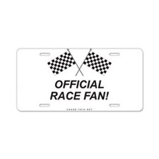Checker Flag Official Aluminum License Plate