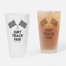 Checker Flag Dirt Drinking Glass
