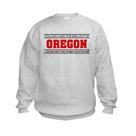 'Girl From Oregon' Kids Sweatshirt