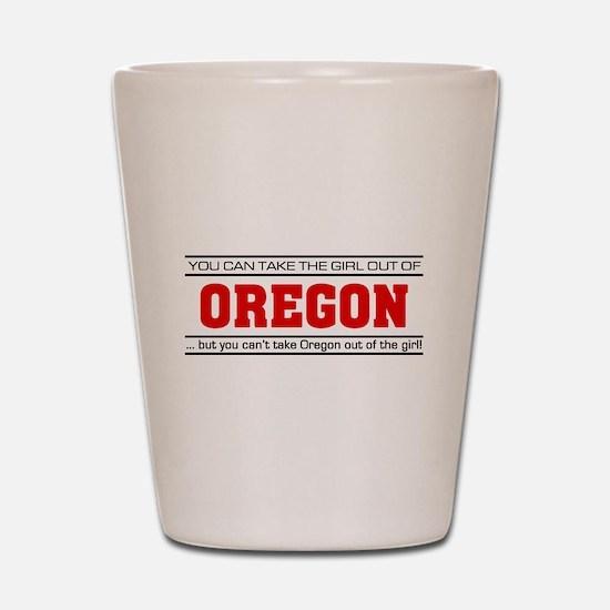 'Girl From Oregon' Shot Glass