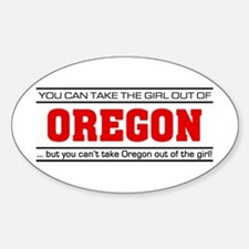 'Girl From Oregon' Sticker (Oval)
