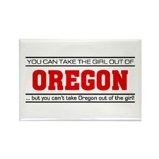 'Girl From Oregon' Rectangle Magnet