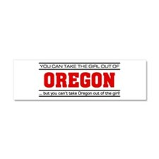 'Girl From Oregon' Car Magnet 10 x 3