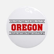 'Girl From Oregon' Ornament (Round)