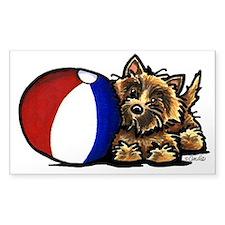 Cairn Terrier n Ball Decal