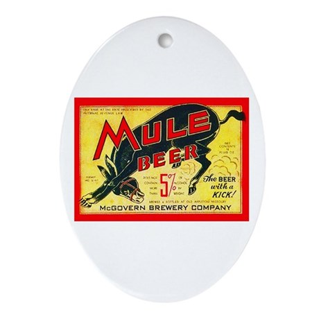 Missouri Beer Label 2 Ornament (Oval)