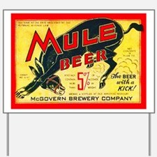 Missouri Beer Label 2 Yard Sign