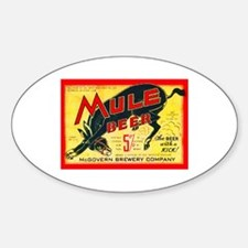 Missouri Beer Label 2 Sticker (Oval)