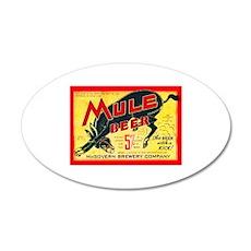 Missouri Beer Label 2 22x14 Oval Wall Peel