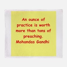 gandhi quote Throw Blanket