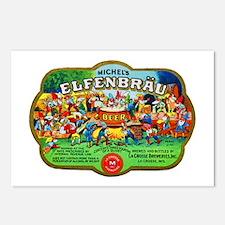 Wisconsin Beer Label 6 Postcards (Package of 8)