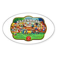 Wisconsin Beer Label 6 Decal