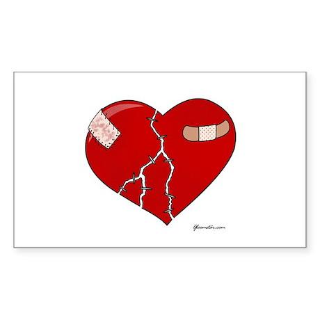 Trusting Heart Sticker (Rectangle 10 pk)