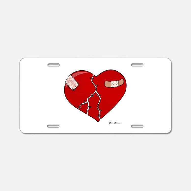 Trusting Heart Aluminum License Plate