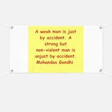 gandhi quote Banner