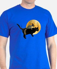Witch Squirrel Cat T-Shirt