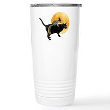 Witch Squirrel Cat Travel Coffee Mug