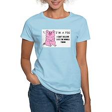I'M A PIG Women's Pink T-Shirt