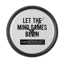 Let the mind games begin Large Wall Clock