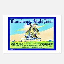 Wisconsin Beer Label 11 Postcards (Package of 8)