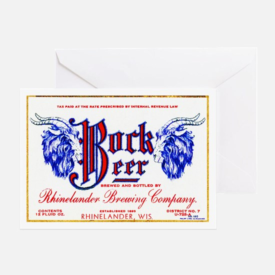 Wisconsin Beer Label 10 Greeting Card