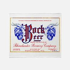 Wisconsin Beer Label 10 Throw Blanket