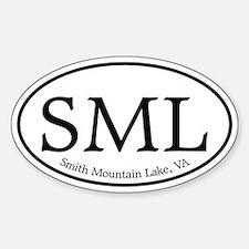 SML Smith Mountain Lake Sticker (Oval)