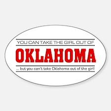 'Girl From Oklahoma' Sticker (Oval)