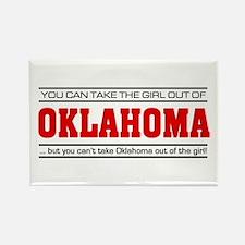 'Girl From Oklahoma' Rectangle Magnet