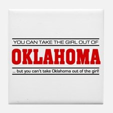 'Girl From Oklahoma' Tile Coaster