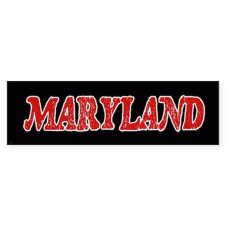 Maryland Vintage Bumper Sticker