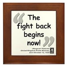 Thatcher Back Quote Framed Tile