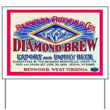 West Virginia Beer Label 3 Yard Sign