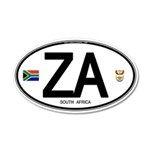 South Africa Euro-style Code 22x14 Oval Wall Peel