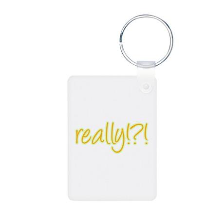 really!?!_Yellow Aluminum Photo Keychain