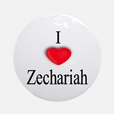 Zechariah Ornament (Round)