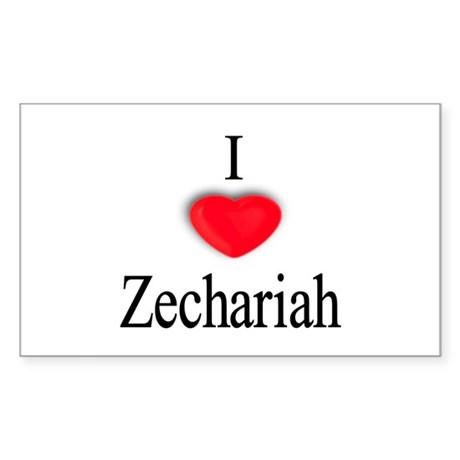 Zechariah Rectangle Sticker