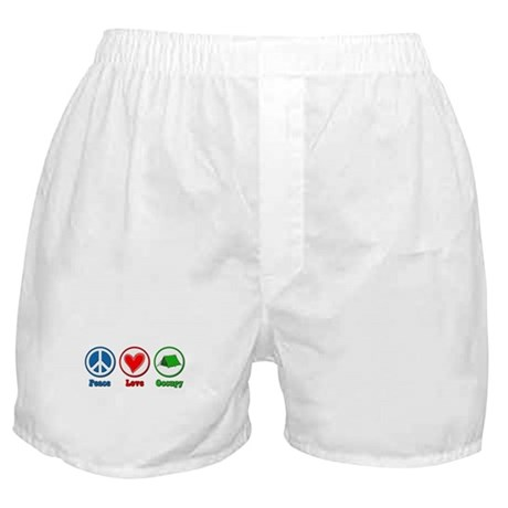 Peace Love Occupy Protest Boxer Shorts