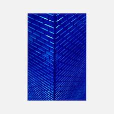 Blue Glass Rectangle Magnet