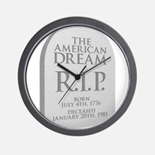 American Dream is Dead Wall Clock