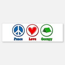 Peace Love Occupy Protest Sticker (Bumper)