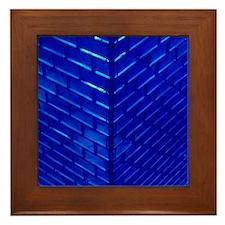 Blue Glass Framed Tile