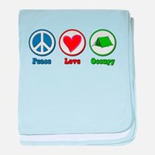 Peace Love Occupy Protest baby blanket