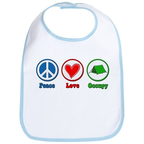 Peace Love Occupy Protest Bib