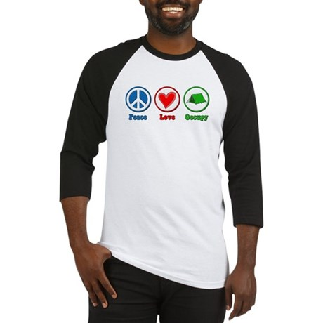 Peace Love Occupy Protest Baseball Jersey