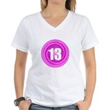 13 birthday girl Womens V-Neck T-shirts