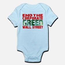 End The Corporate Greed Wall St. Infant Bodysuit