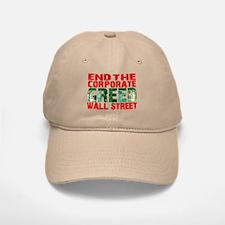 End The Corporate Greed Wall St. Baseball Baseball Cap