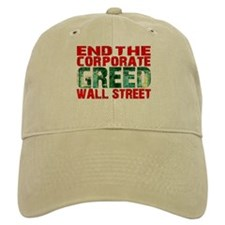 End The Corporate Greed Wall St. Baseball Cap